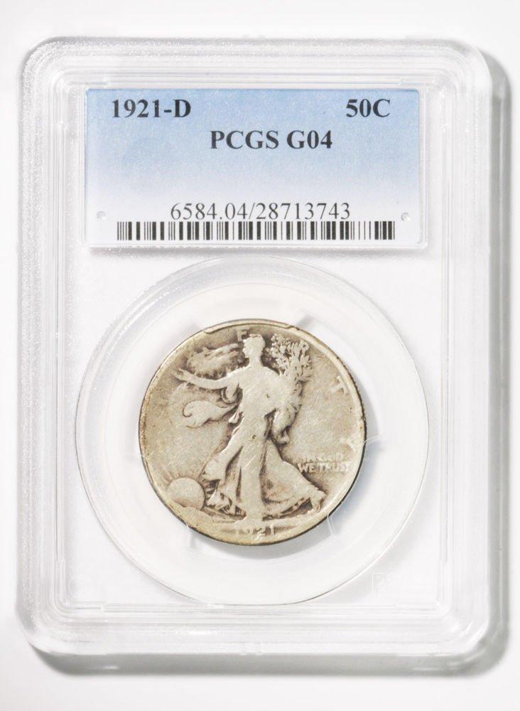 1921 D Walking Liberty Half Dollar -Key Date- PCGS G04  Good Condition Walker