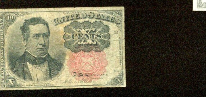 US Fractional Currency 10 cents note   FR-1264  Series of 1871    x