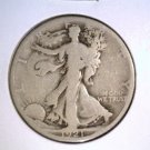 1921 S Walking Liberty Silver Half Dollar GOOD condition Free US Shipping !