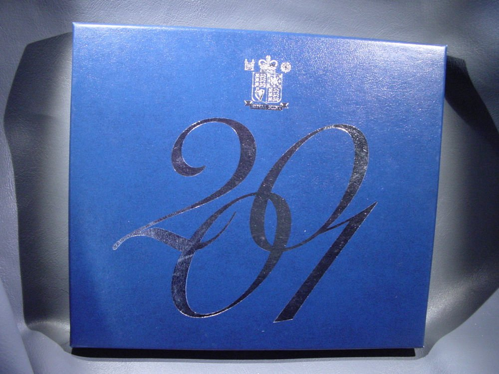 2001 United Kingdom Proof Set in Original Packaging with COA  KM#PS129