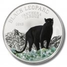 2013 Congo 1000 Francs Silver Proof Black Leopard Coin Colored Ltd. Ed. of 999