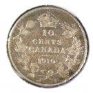1910 Canada Silver 10 cent coin FINE  KM#10  .0691  ASW