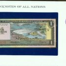 1977 El Salvador Un Colon  Note Pick#12a CRISP UNCIRCULATED ! In Sealed envelope