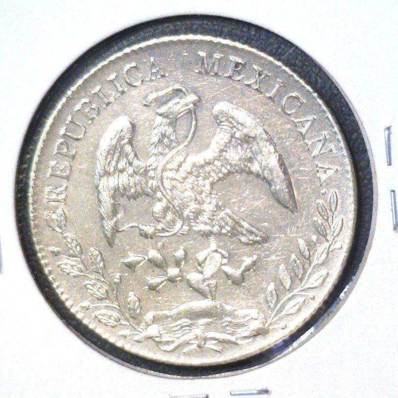 1895 Go R.S. Mexico Silver 8 reales Coin KM#377.8 Guanajuato  .7859 ASW  AU