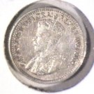 1919 Canada Silver 5 cent coin XF  KM#22 .0336 ASW