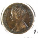 1876 Hong Kong One Cent Coin KM#4.1 VF details Scratched