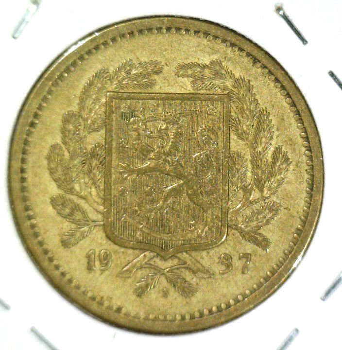 1937 S Finland 20 Markka Coin KM#32  Extremely Fine XF Condition
