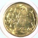 1984 Australia Dollar Coin KM#77   5 Kangaroos