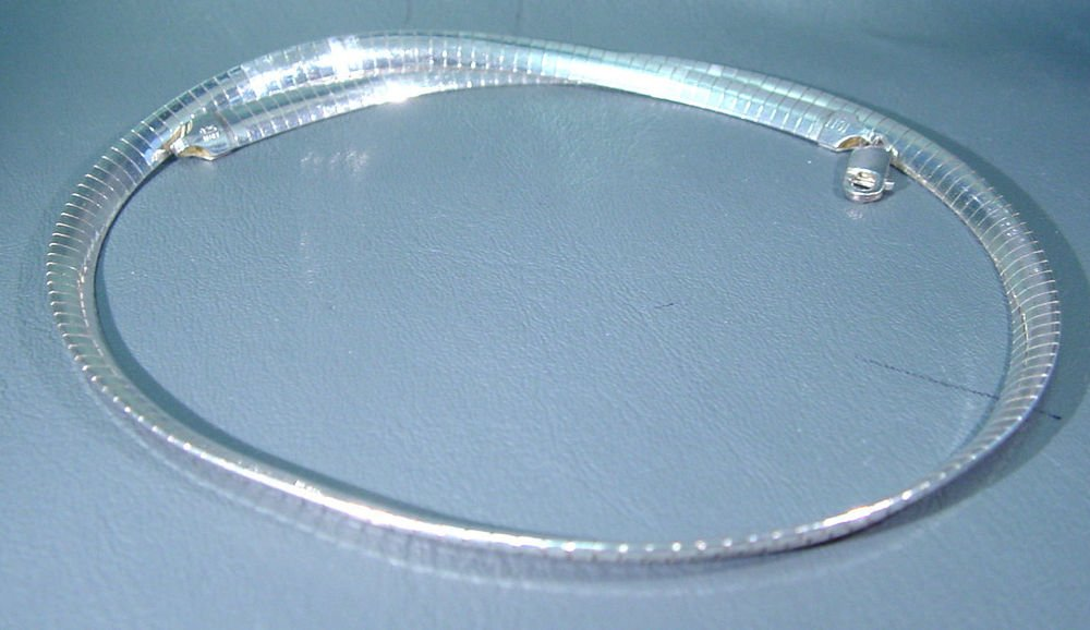 """18"""" Sterling Silver Necklace marker  .925 Italy and 1011   27.5 grams"""
