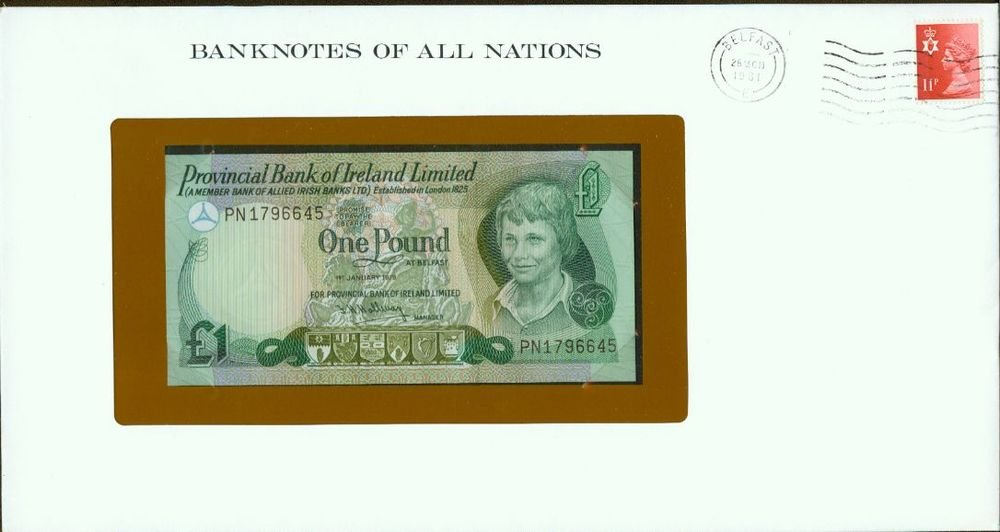 1979 Northern Ireland 1 pound note Pick#247b  CRISP UNCIRCULATED ! Sealed