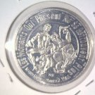 1965 Mardi Gras Doubloon New Orleans LA Founded 1718 Bacchus Riding a Bull  Wine