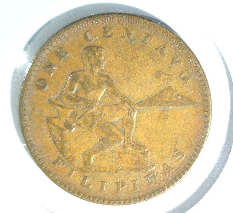 1920 S Philippines Centavo Coin VF condition US Colony Colonial Filipinas