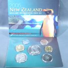2005 New Zealand BU Coin Collection 7 coins in Original Packaging COA Wholesale