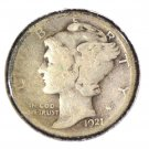 1921  Mercury Dime Winged Liberty Good Condition KEY DATE