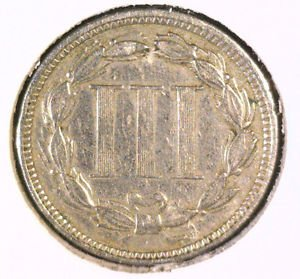1873 Open 3  Three Cent Nickel Very Fine Details CLEANED