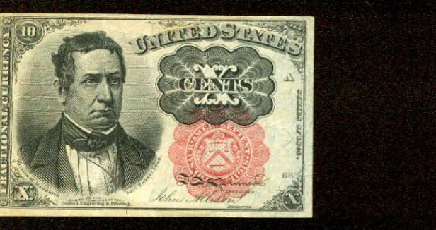 US Fractional Currency 10 cents note   FR-1264  Series of 1871