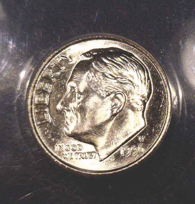 Scarce 1996 W Roosevelt Dime ANACS Uncirculated  West Point Mint xxx