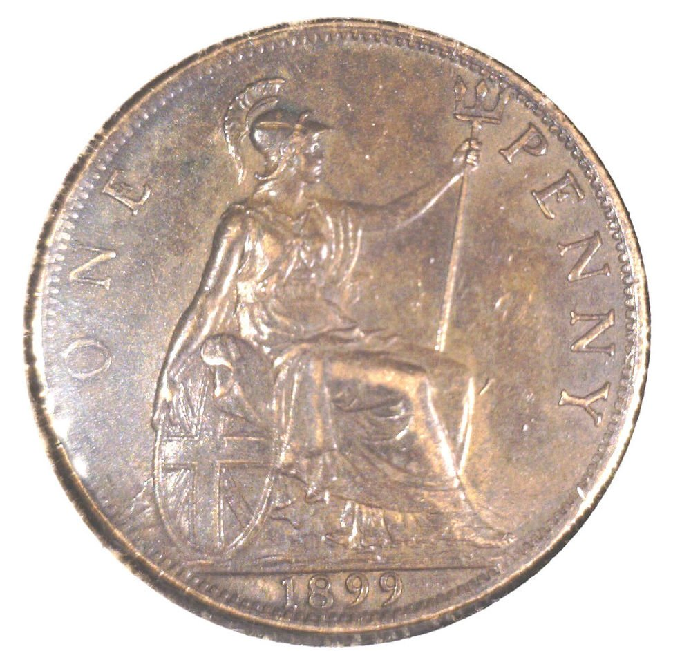 1899 Great Britain Penny KM#790   Queen Victoria
