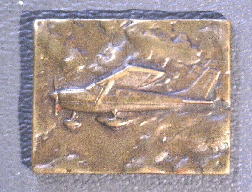 Bronze Token Piper Club of America - Cessna 172 Aircraft in Flight - 25 mm  - XF