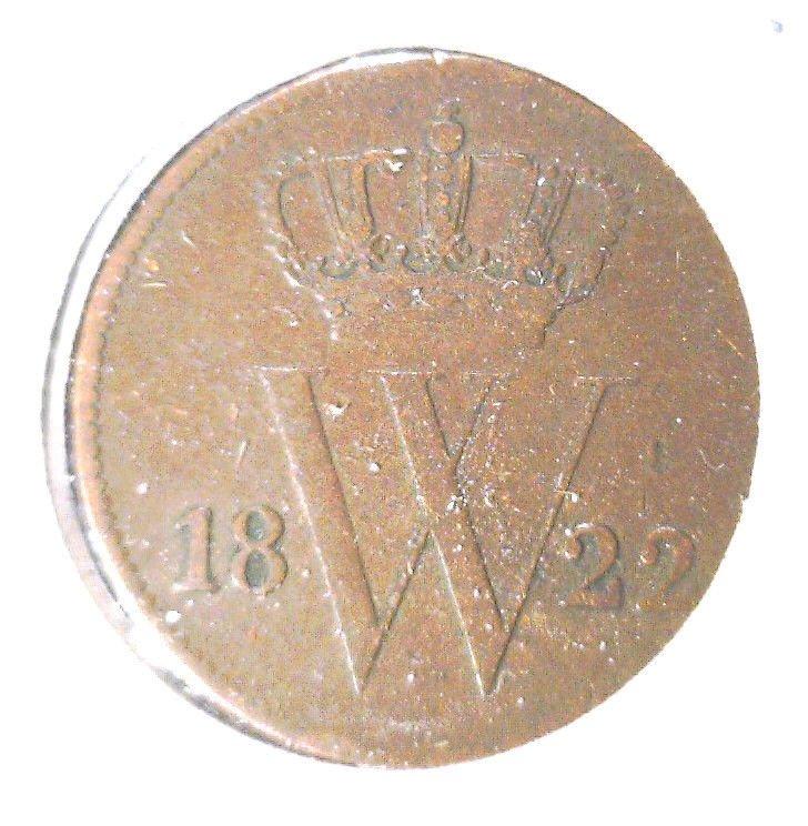 1822 Netherlands  Utrecht Cent Coin KM#47