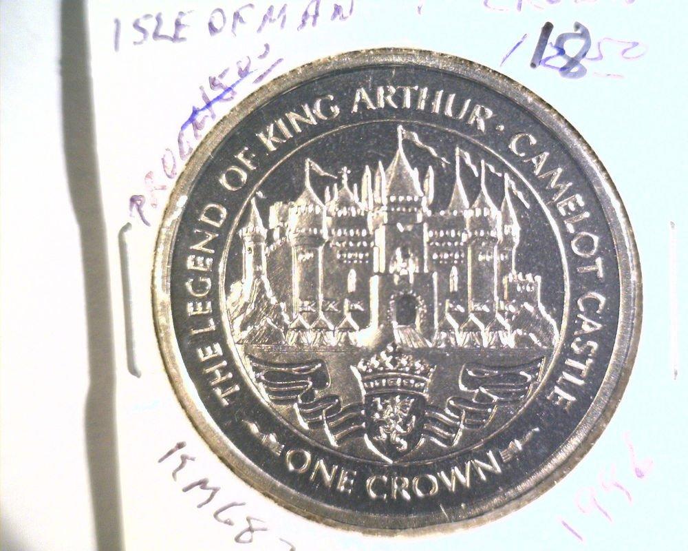 1996 Isle of Man BU Crown Coin Brilliant Uncirculated KM#683 Arthur Camelot
