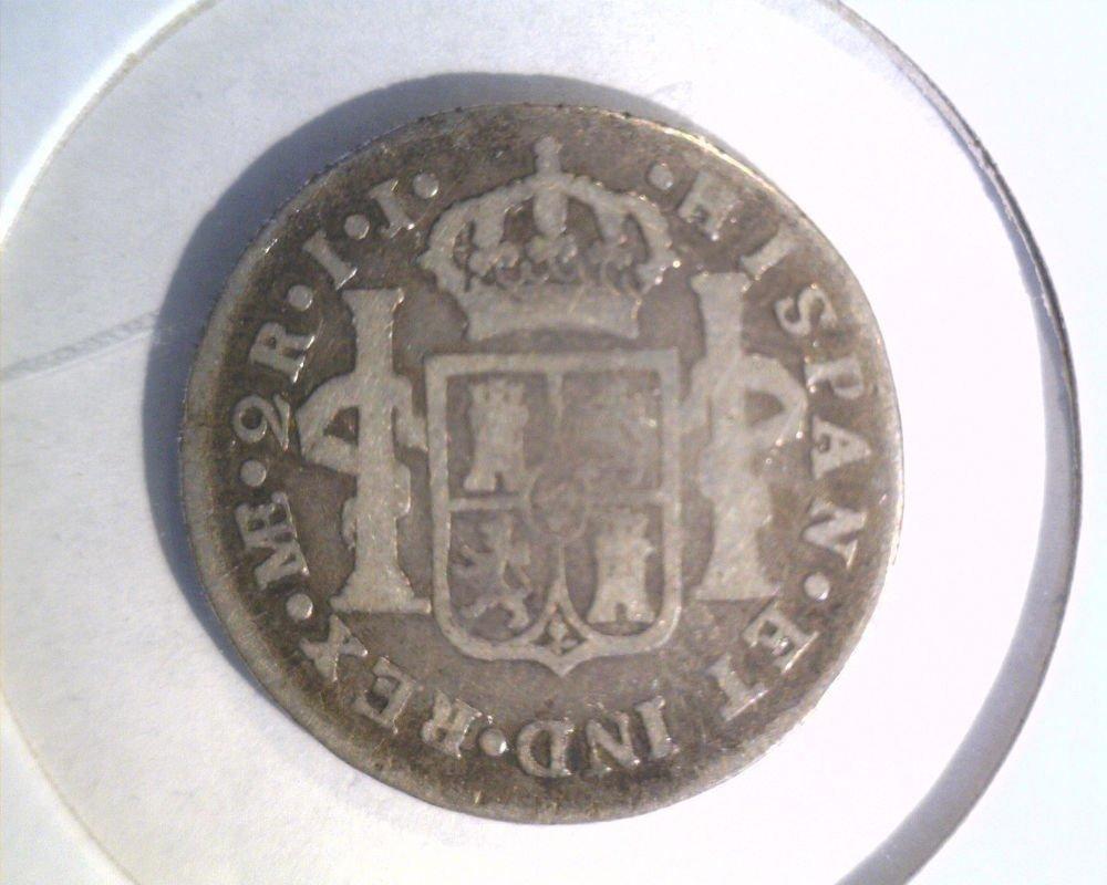 Peru 1788 I.J. Lima Silver 2 Reales coin KM#76a  .1949 ASW Carlos III