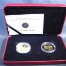 2005 Canada Silver 2  $8 coin set Chinese Railroad Workers KM#597 & 598 OGP COA