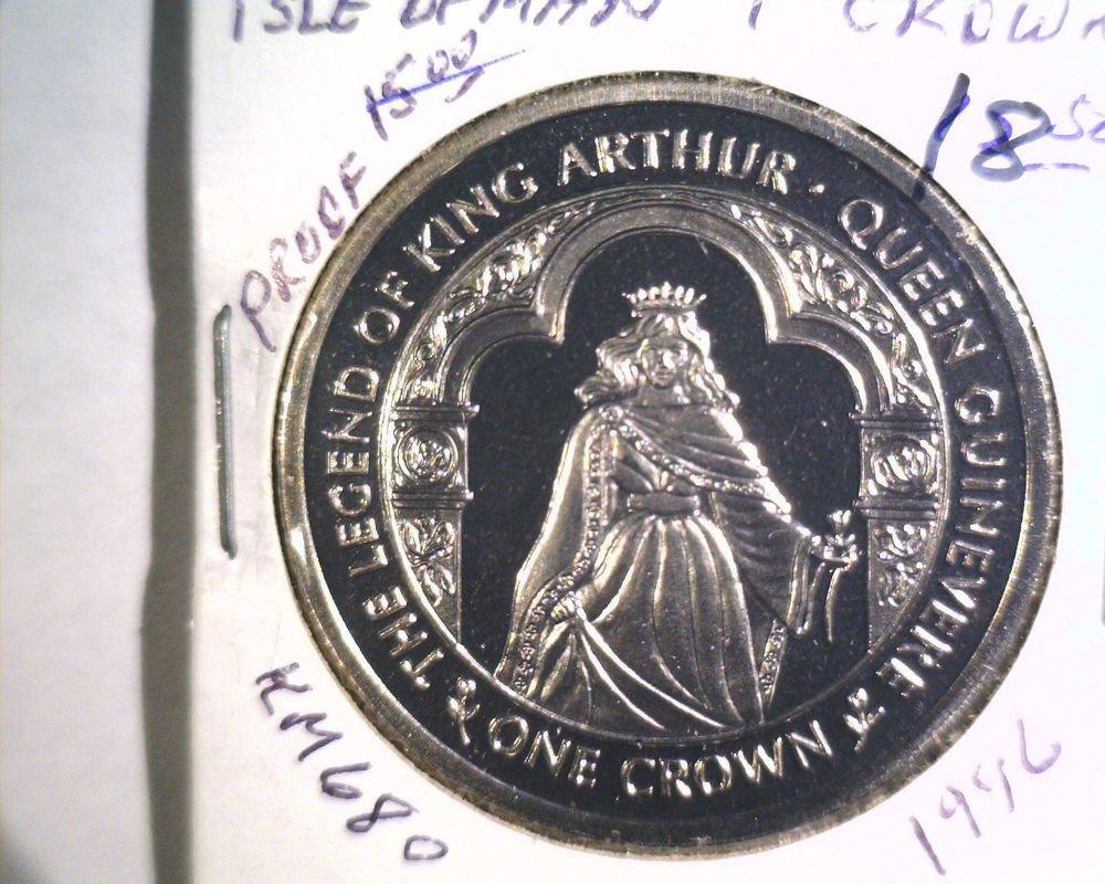 1996 Isle of Man BU Crown Coin Brilliant Uncirculated KM#680 Arthur Guinevere