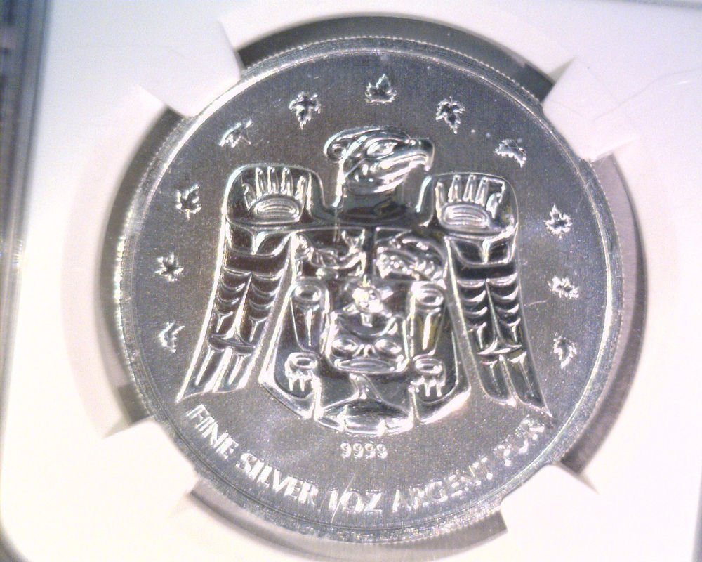 2009 Canada Silver $5 Coin Vancouver 2010 Olympics NGC MS69   1 of first 200,000