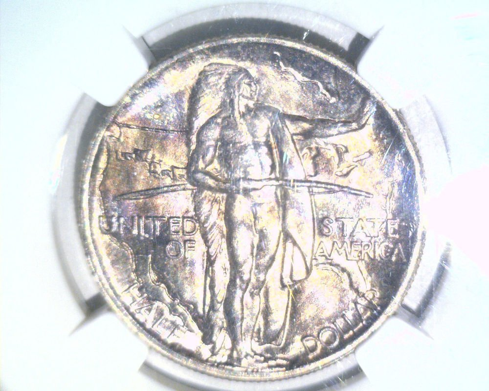 1926 S Oregon Trail Silver Commemorative 50 cent NGC MS65 Indian Wagon Toned