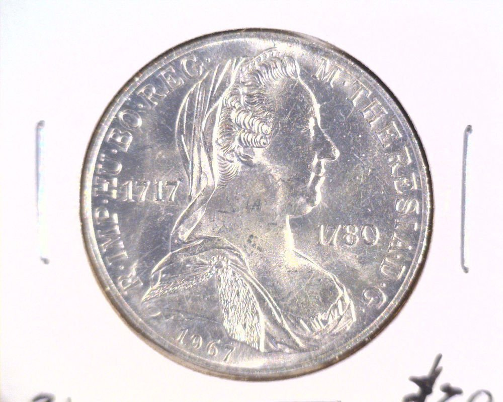 Austria 1967 BU Silver 25 Schilling Coin .3344 ASW KM#2901 Empress Maria Theresa