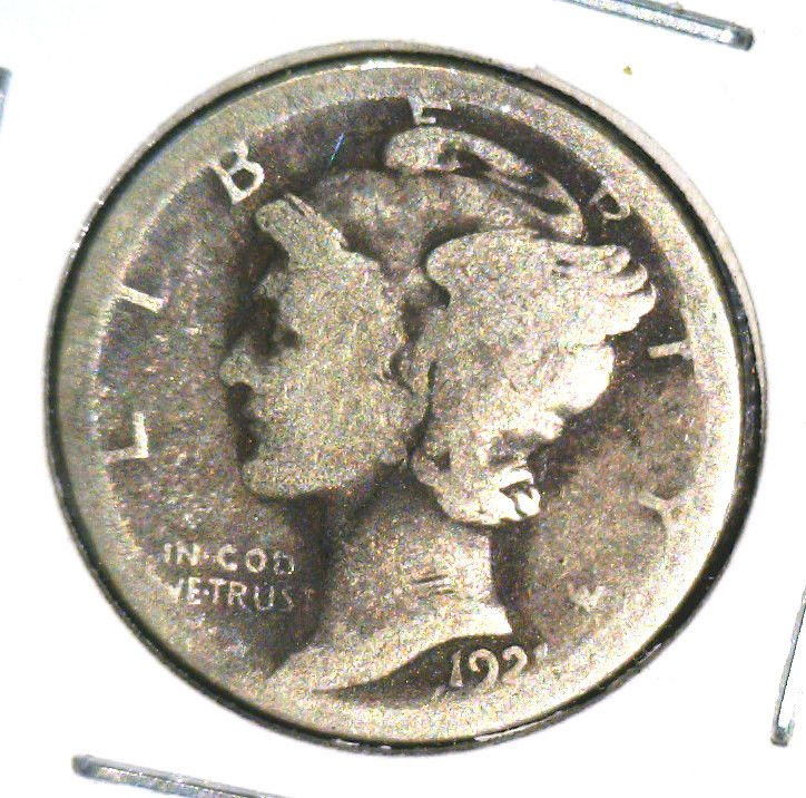 1921   Mercury Dime Winged Liberty About Good Condition KEY DATE