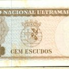 1963 Timor 100 Escudos Bank Note Pick#28 Below Wholesale !