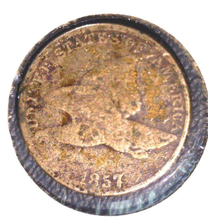 1857 Flying Eagle Cent Good Details Corrosion