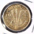 1940 Australia Silver Threepence Coin KM#37 .0419 ASW