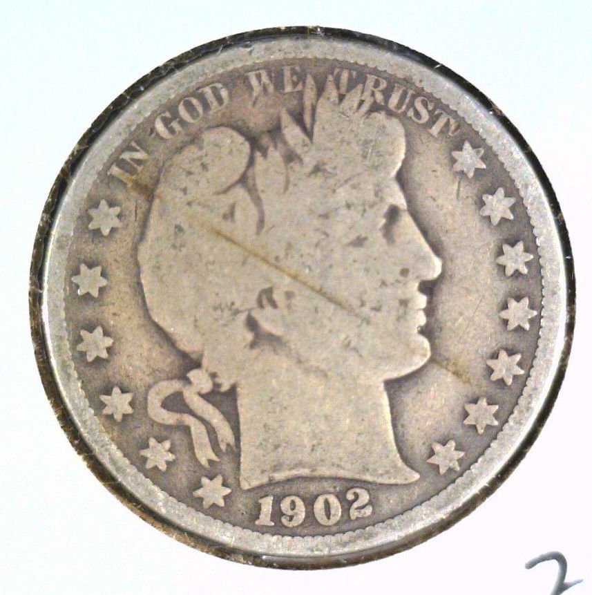 1902 O Silver Barber Half Dollar Good Details Scratched
