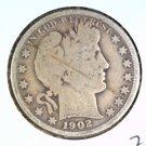 1902 O Silver Barber Half Dollar Good Details Scratched