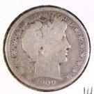 1900 Silver Barber Half Dollar Good Condition