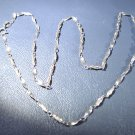 """Sterling Silver Necklace 1.4 grams 16"""" long   Marked S 925"""