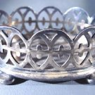 "Reed and Barton Silverplated Footed Basket  3-1/4"" LX 1-1/4 H X 2-1/4"" W  84.6 g"