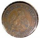 1870 O.M. Spain 10 centimos coin KM#663 Diez Gramos Diez Piezas en Kilog x