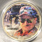 Dale Earnhardt full color portrait on a 2001 Silver American Eagle  1 oz  NASCAR