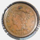 1851 Braided Hair Large Cent