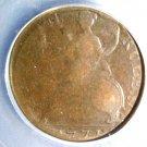 1771 Great Britain Half Penny Coin  ICG G4  Evasion Piece  KM# 601