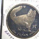 1991 Isle of Man BU Crown Coin Brilliant Uncirculated KM#292 Cat