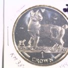 1994 Isle of Man BU Crown Coin Brilliant Uncirculated KM#380  Cat