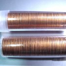 LOT of  100  1963 RED UNCIRCULATED LINCOLN CENTS 2 full Rolls ! Free US SHIP
