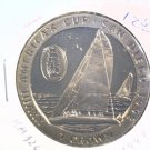 1992 Isle of Man BU Crown Coin Brilliant Uncirculated KM#326  Sailboat
