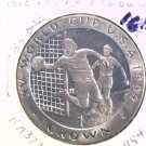 1994 Isle of Man BU Crown Coin Brilliant Uncirculated KM372 World Cup Soccer USA