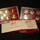 United States Mint 2005 Silver Proof Set  w/ 5 state quarters * WHOLESALE  ! *